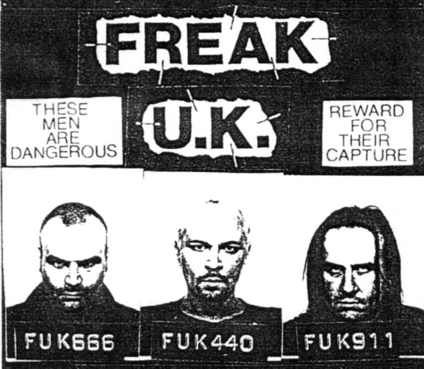Flyer for band Freak UK