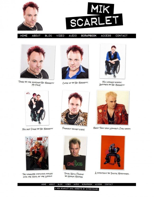 Mik Scarlet gallery page